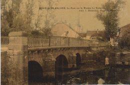 70- PONT DE PLANCHES, Le Pont Sur La Romaine. Carte Couleur Toilée. Parfait état. - Frankreich