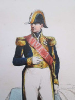 Gravure Fin 19e Siècle Représentant Un Amiral De La Marine Française, Peut être D'époque Napoleon III , Signature PAUQUE - Barcos