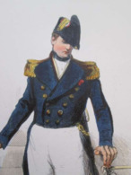 Gravure Fin 19e Siècle Représentant Un CAPITAINE DE VAISSEAU De La Marine Française, Peut être D'époque Napoleon III , S - Boten