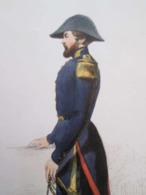 Gravure Fin 19e Siècle Représentant Un ENSEIGNE DE VAISSEAU De La Marine Française, Peut être D'époque Napoleon III , Si - Barcos