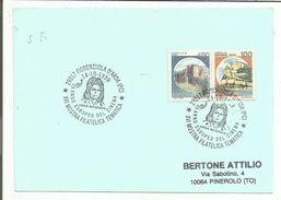 ITALIE OBLITERATION SUR CARTE MOSTRA PHILATELIQUE THEMATIQUE ANNE EUROPEENNE DU CINEMA 1989 - Briefmarkenausstellungen