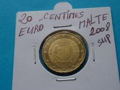 20  CENTIMES  EURO  MALTE  2008 Sup  ( Livrée Sous étui H B - 2 Photos  ) - Malta