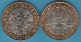 AUSTRIA Österreich 50 Schilling 1997 1997 Wiener Secession BIMETAL - Austria