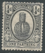Turks & Caicos Islands. 1922-26 KGV. ¼d MH. Mult Script CA W/M SG 162 - Turks And Caicos