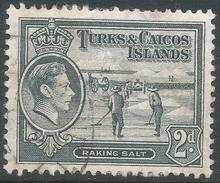 Turks & Caicos Islands. 1938-45 KGVI. 2d Used. SG 198 - Turks And Caicos