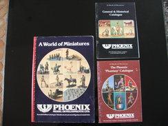 3 Catalogues Sur Les Figurines Phoenix  Phantasy  Phoenix Phollies Lost World Of Atlantis Victorian Et Gergian Période - Figurines