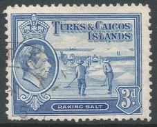 Turks & Caicos Islands. 1938-45 KGVI. 3d Used. SG 200 - Turks And Caicos
