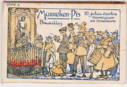 Manneken-Pis Bruxelles - 10 Jolies Cartes Comiques En Couleurs - Cartoline