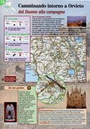 Umbria - Depliant SENTIERI DEL TOURING, CAMMINANDO INTORNO A ORVIETO DAL DUOMO ALLA CAMPAGNA - Sent-tou - Dépliants Turistici