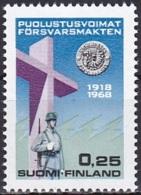 Finland (1968):- Defence Force's 50th Anniv./War Memorial (0.25 Mk):- MNH - Finland