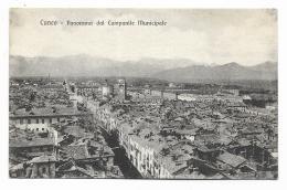 CUNEO - PANORAMA DAL CMAPANILE MUNICIPALE NV FP - Cuneo