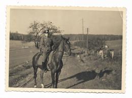 FOTO MILITARE TEDESCO SU CARTA AGFA 1937 - MISURE CM. 11,5X8 - Guerra, Militari