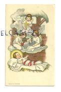 Image Pieuse.  Enfant Jésus Dans La Crèche. Anges, Croix, Ancre,bougie. 5/9 Cm - Devotieprenten