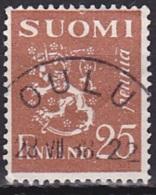 Finland (1930):- Definitive/Lion Type (25 P):- 'OULU' Cancellation - Finlande