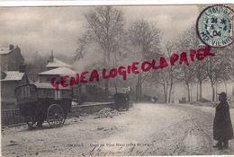 87 - LIMOGES - QUAI DU PONT NEUF - EFFET DE NEIGE  - ROULOTTE  1904  RARE - Limoges