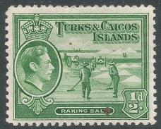 Turks & Caicos Islands. 1938-45 KGVI. ½d MH. SG 195a - Turks And Caicos