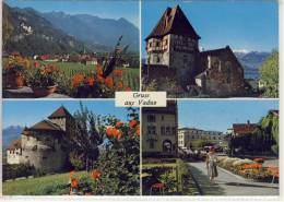 VADUZ, Liechtenstein - Rotes Haus, Schloss, Postplatz,  Nice Stamp, Sondermarke, 1971 - Liechtenstein