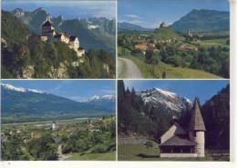 Fürstentum LIECHTENSTEIN - Schloss Vaduz, Malzers, Triesen, Kirchlein Im Steg - Liechtenstein
