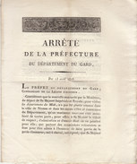 Empire, Gard, 1808, Uniforme Prévu Des Gardes D'honneur Pour La Visite De Sa Majesté Napoléon (6 Pages) - Documenti Storici