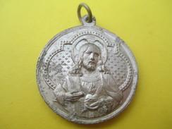 Médaille Religieuse Ancienne /Coeur Sacré De Jésus / ND De Lourdes/Début XXéme Siécle               CAN534 - Religión & Esoterismo