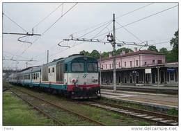 53 FS Treni D 445.1128 Codogno (LO) Tpaívo Railroad Train Railways Zug Treno Steam Chemin De Fer Reggiane - Eisenbahnen