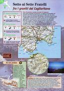 Sardegna - Depliant SENTIERI DEL TOURING, SOTTO AI SETTE FRATELLI FRA I GRANITI DEL CAGLIARITANO - Sent-tou - Dépliants Turistici