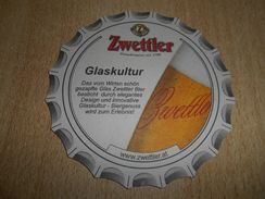 ZWETTLER BIER Glaskultur, Beer Mat - Beer Mats