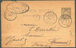 FRANCE EP Carte 10c. SAGE Obl. Dc LILLE 26 Novembre 189 Au Brasseur DONCKER à YPRES - 12163 - Bières