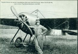 Erste Flüge-Primi Voli-First Flights-Spezielle Fluge-AEREI-Postmark-SOLOTHURN-THEODOR BORRER-MONOPLAN HANRIOT- - Postmark Collection