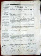 38 ISERE CERTIFICAT DE BONNE VIE ET MOEURS DELIVRE AU SIEUR BERTHOLLET DE SAINT ETIENNE DE CROSSEY  1822 - Documents Historiques