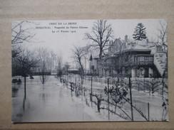 YVELINES  78       BOUGIVAL  -  PROPRIETE DU PEINTRE GEROME  INONDE   LE 1 FEVRIER 1910       TTB - Bougival