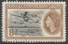 Turks & Caicos Islands. 1955 QEII. 8d Used. SG 236 - Turks And Caicos