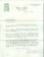 Lettre Etats-Unis USA Nebraska Diocése Of Lincoln Bishop Louis B. Kucera Omnibus Prodesse - Vieux Papiers