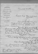 Courrier Laines Canal Fils Tourcoing & Orléans 29-11-1897 - 1800 – 1899