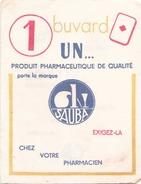 France Buvard Sauba Produit Pharmaceutique ( Pliure, Tache ) 14 Cm X 10,5 Cm - Produits Pharmaceutiques