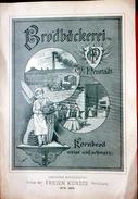 BOULANGERIE INDUSTRIELLE 19° SIECLE PUBLICITE POUR  USINE DE PAIN EN 1889 BELLE COMPOSITION FARINE ALIMENTATION 28 X19 - Publicités