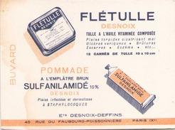 France Buvard Flétulle Pommade ( Pliure, Auréole ) 12,5 Cm X 9,5 Cm - Produits Pharmaceutiques