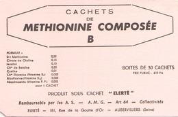 France Buvard Methionine Compose ( Pliure ) 14,5 Cm X 10 Cm - Produits Pharmaceutiques