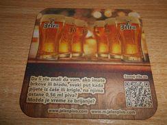 JELEN PIVO BIER BEER, SERBIA APATIN, Beer Mat - Beer Mats