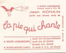 France Buvard La Pie Qui Chante ( Pliure, Auréole ) 12,5 Cm X 10,5 Cm - Cake & Candy