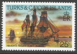 Turks & Caicos Islands. 1983 Ships. 25c MH. SG 774a - Turks And Caicos
