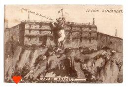 38547-ZE-PUBLICITE-LE LION S'IMPATIENTE--APRES AGADIR ?....------au Dos Pub Japy - Reclame