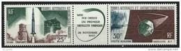 "TAAF Aerien YT 11A (PA) Triptyque "" Lancement 1er Satellite "" 1966 Neuf** - Poste Aérienne"