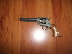 Ancien Revolver D'alarme Type Colt 1850 - Armes Neutralisées