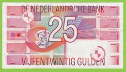 NEDERLAND 25 GULDEN  - 5-4-1989 - [2] 1815-… : Royaume Des Pays-Bas