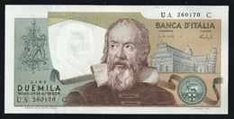 """1973 ITALIA - 2.000 Lire - G. Galilei - Conservazione : """"FDS"""" - Carli / Barbarito - Biglietto Di Banca (f / R) L. 18 - [ 2] 1946-… : Républic"""