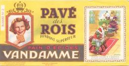 France Buvard Pain D'épices Vandamme ( Pliure, Tache , écriture  ) 18,5 X 9,5 Cm - Gingerbread
