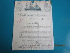 Lettre 1908 Fabrique DELHOMME Couronnes Funéraires 22 Rue Tapis Vert Marseille Fournitures Pour Fabricants FRANCOIS GASC - Francia