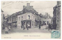 Cpa Gorron - Place Du Général Barrabé ( Commerce Picot-Lory / Postée Vers St-Gallen, Suisse ) - Gorron