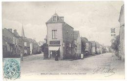 Cpa Meslay - Grande Rue Et Rue Chevreul - Meslay Du Maine